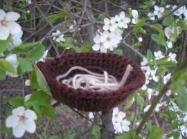 Szydełkowy ptaszek - Crocheted bird