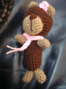 Szydełkowy miś - Crocheted teddy bear