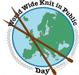 Światowy Dzień Robienia na Drutach logo - World Wide Keep in Public Day logo