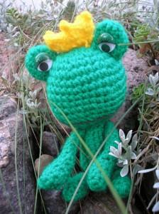 Szydełkowa żabka - Crocheted frog